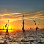 Sunrise over Lake Mulwala